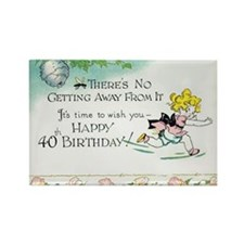 40th Birthday Rectangle Magnet (10 pack)