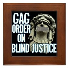 Blind Justice Framed Tile
