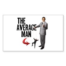 Average Man Rectangle Sticker 10 pk)