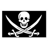 Pirate Flag Rectangle Decal