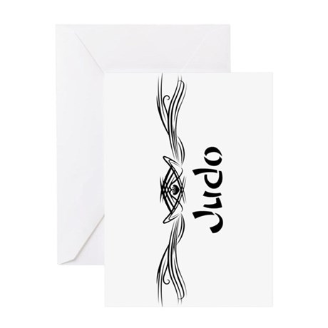 Martial Arts Judo Greeting Card
