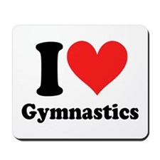 I heart Gymnastics: Mousepad
