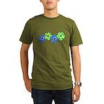 Hibiscus 2 Organic Men's T-Shirt (dark)