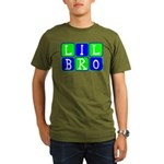 Lil Bro (Blue/Green Bright) Organic Men's T-Shirt