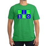 Lil Bro (Blue/Green Bright) Men's Fitted T-Shirt (