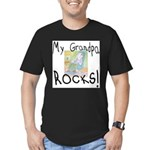 Grandpa Rocks 2 Men's Fitted T-Shirt (dark)