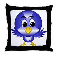 Bobby The Bluebird Throw Pillow