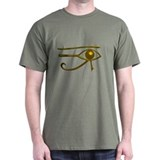 Gold Udjat Egyptian Eye Tee (Dark)