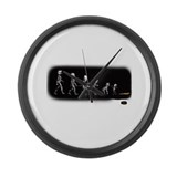 Devolution from Lincoln to Newt Large Wall Clock