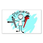 plumbers Rectangle Sticker 50 pk)