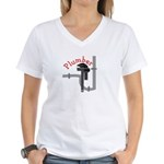 plumbers Women's V-Neck T-Shirt