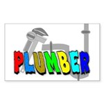 plumbers Rectangle Sticker