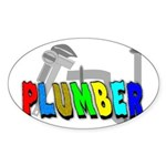 plumbers Oval Sticker (10 pk)