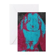 Warhol Style English Lop (Blu Greeting Card