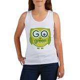 Go Green Owl Women's Tank Top