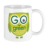 Go Green Owl Small Mug