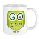 Go Green Owl Coffee Mug