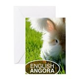 English Angora Greeting Card