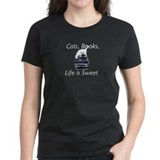 Cat on Books Tee