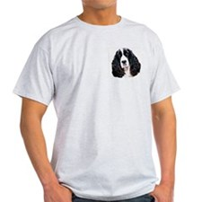 springer spaniel portrait Ash Grey T-Shirt