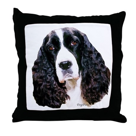 springer spaniel portrait Throw Pillow