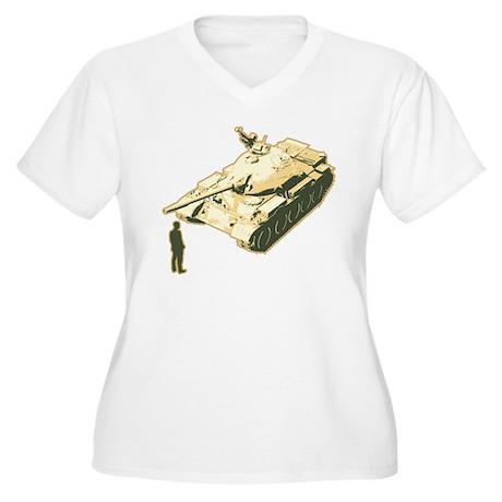 Tienanmen Tank Man Women's Plus Size V-Neck T-Shir
