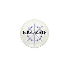 First Mate Ship Wheel Mini Button (100 pack)