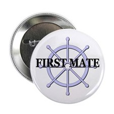 "First Mate Ship Wheel 2.25"" Button"