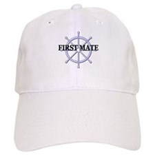 First Mate Ship Wheel Baseball Cap