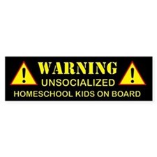 Homeschool homeschooling home school homeschooler Bumper Sticker