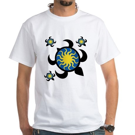 Sun Turtles White T-Shirt