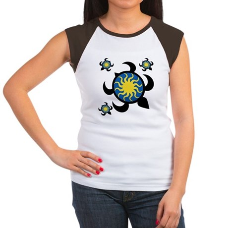 Sun Turtles Women's Cap Sleeve T-Shirt