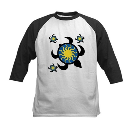 Sun Turtles Kids Baseball Jersey