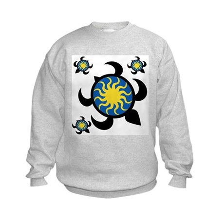 Sun Turtles Kids Sweatshirt
