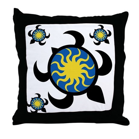 Sun Turtles Throw Pillow