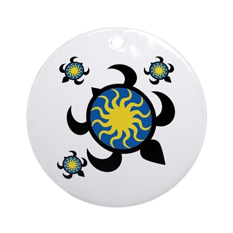 Sun Turtles Ornament (Round)