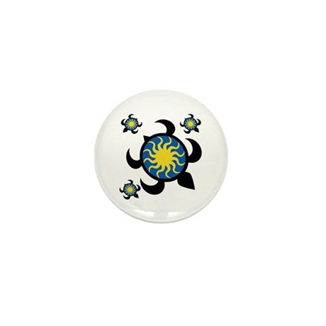 Sun Turtles Mini Button (100 pack)