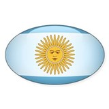Argentina Oval Sticker (10 pk)