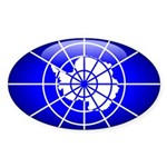 Antarctica Oval Sticker (10 pk)