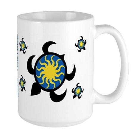 Sun Turtles Large Mug