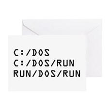 C DOS RUN Greeting Card