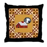 Log cabin Quilt  Throw Pillow