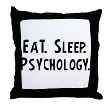 Eat, Sleep, Psychology Throw Pillow