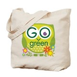 Go Green Owl Tote Bag