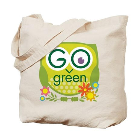recycle owl go green bag