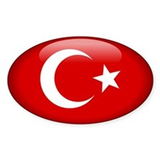 Turkey Oval Sticker (10 pk)