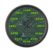Binary LARGE Wall Clock