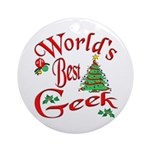 Best Geek Ornament (Round)