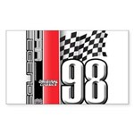 Mustang 1998 Rectangle Sticker 50 pk)