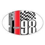 Mustang 1998 Oval Sticker (50 pk)